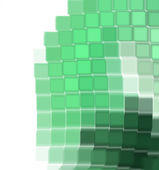 Fractal green cubes — Stock Photo