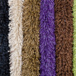 Several carpet samples - Stock Photo