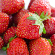 Fresh strawberries, macro - Stock Photo