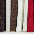Carpet demo samples at showcase - Stock Photo