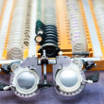 Optometryczne ramki i soczewki zestaw — Zdjęcie stockowe