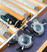Optometric frame and lenses set — Stock Photo
