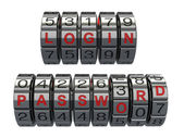 Login and password as a combination system access — Stock Photo