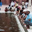Ablution in Jama Masjid, India&amp;#039;s largest mosque - Stock Photo