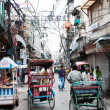 Rickshas in old part of New Delhi — Stock Photo