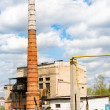 Stock Photo: Boiler house with high stack
