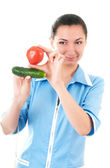 Nutritionist recommends vegetables — Stock Photo