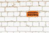 Mur de brique de silicate blanc — Photo