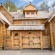 Wooden log house — Stockfoto