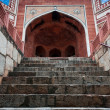Humayun`s Tomb arch with stairway, Delhi, India. - Stock Photo