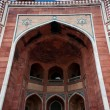 Humayun`s Tomb arches, Delhi, India. — Stockfoto