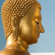 Buddha head in profile — Stock Photo