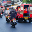 Stock Photo: Traffic on Phuket streets in high tourist season