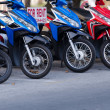 Stock Photo: Motorbikes for rent in Thailand