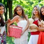 Four happy friends — Stock Photo #11815638