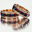 Close-up of  rings or bracelets - Foto de Stock