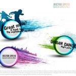 Set grunge color Speech Bubbles for party. vector — Stock Vector