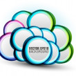 Abstract speech bubble vector background — Stockvectorbeeld