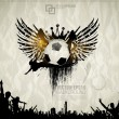 Stock vektor: Football background with balls, wings