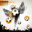 Royalty-Free Stock Vector Image: Soccer Action Player on beautiful Abstract Background. Original Vector illustration sports series. Classical football poster.