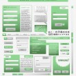 Set: forms and design element for web. Vector — Stock Vector