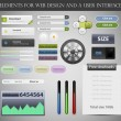 Web Design Elements and UI User Interface Vector — Stok Vektör #11127278