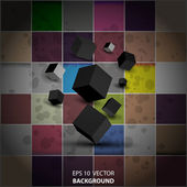 Abstract background with 3d blocks — Stok Vektör