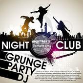 Grunge 横幅与副本空间漆黑运球地带。党的抽象背景 — 图库矢量图片