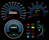 ダッシュ ボード速度計。ベクトルの背景 — ストックベクタ