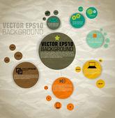 Vecteur de modèle pour les icônes et graphiques d'informations — Vecteur