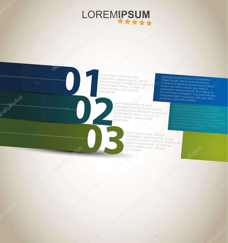 Design template numbered banners. — Stock Vector © hyv123 #11126069