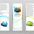 Royalty-Free Stock Vector Image: Set color abstract banners.