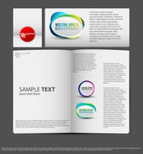 Set of corporate identity templates vector illustration gradient — Stock Vector