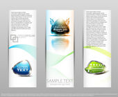 Set color abstract banners. — Stock Vector