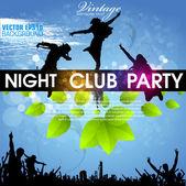 Cartaz de grunge de cor para a festa de verão — Vetorial Stock