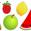 Royalty-Free Stock Vector Image: Fruit set 2