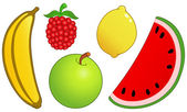Fruit set 2 — Stock Vector