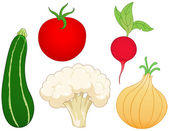 Vegetable set 1 — Stock Vector