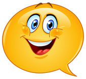 Speech bubble emoticon — Stock Vector