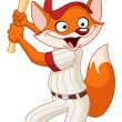 Baseball fox - Stock Vector