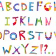 Vector de stock : Fun alphabet