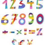 Fun numbers — Stock Vector