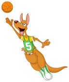 Basketball kangaroo — Stock Vector