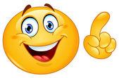 Fazendo um emoticon de ponto — Vetorial Stock