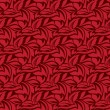 Stock Vector: Red seamless wallpaper pattern