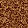Wedding seamless pattern - Stok Vektr