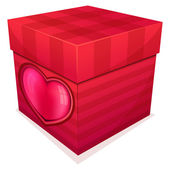 Gift red box — Stock Vector