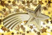Christmas golden star — Stock Photo
