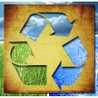 Recycle Three arrows - Stock Photo