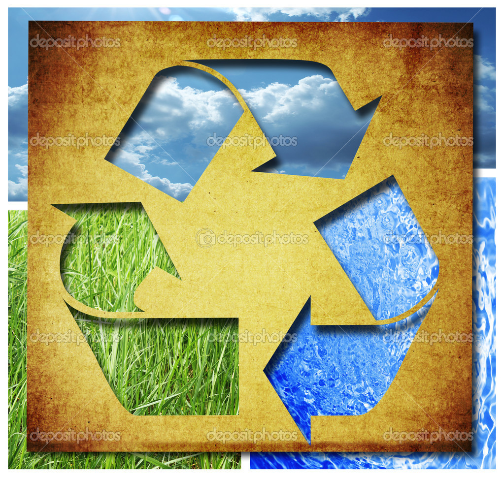 Recycle Three arrows — Stock Photo #11528004